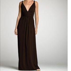 J crew factory brown maxi dress